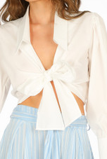 Tie Front Cropped Shirt - 6 Colours