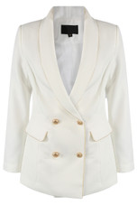 Golden Piping Double Breast Blazer