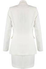 Golden Piping Blazer & Skirt Co-Ord