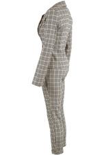 Check Single Button Blazer & Pants Co-Ord