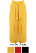 Layered Belted Wide Leg Culottes