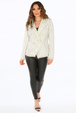 Stripes Boucle Double Breasted Blazer
