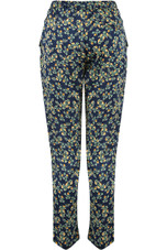 Floral Print Tie Up Trousers