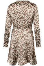 Animal Print Wrap Over Dress