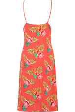 Floral Two Tone Overlap Dress