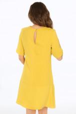 Pleated Hem Short Sleeves Dress