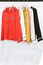 Lace Trim Button Up Shirts