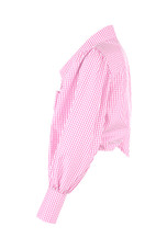 Gingham Tie Front Cropped Shirt - 3 Colours