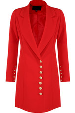 Military Double Breasted Blazer Dress