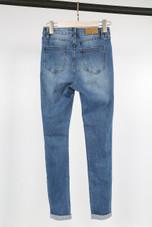 Slogan Trim Ripped Jeans