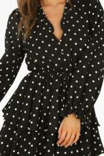 Polka Dot Layered Frill Skater Dress - 2 Colours