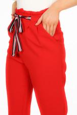Ruffle Waist Tie Up Trousers