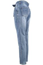 Tie Up Waist Boyfriend Jeans