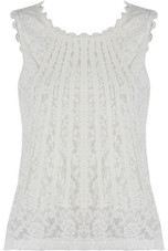 French Seam Trim Lace Top