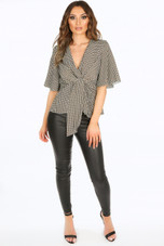 Tie Front Blouse- Variety Of Prints