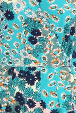 Daisy Print Wrap Look Midi Dress - 3 Colours