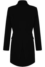 Asymmetric Double Button Blazer Dress