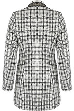 Boucle Tweed Double Breasted Longline Blazer