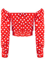 Polka Dot Sweetheart Blouse - 4 Colours