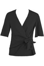 Wrap Over Side Tie Blouse