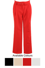 Tailored Belted Trousers - 4 Colours