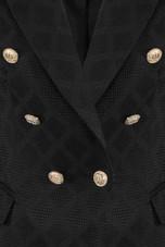 Textured Lattice Double Breasted Blazer - 3 Colours