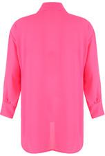 Longline Chiffon Blouse - 5 Colours