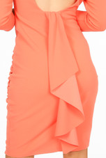 Crepe Drape Frill Ruched Dress - 3 Colours