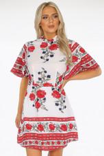 Floral Print Tea Dress - 2 Colours