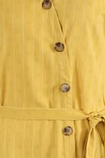Button Down Tie Up Waist Dress - 3 Colours