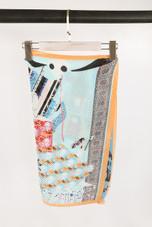 Spooky Print Silk Scarf - 4 Colours