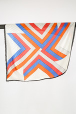 Ikat Print Silk Scarf - 4 Colours