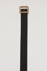 Golden Alloy Buckle Faux Leather Belt