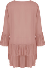 Pleated Tier Button Up Mini Satin Dress - 6 Colours