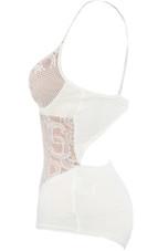 Lace Bodysuit with Cut Out Back - 3 Colours