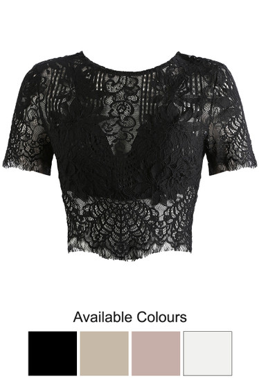 1a40d4705f8 Crochet Lace Crop Tops - Buy Fashion Wholesale in The UK
