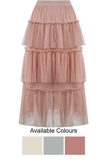 27377a092fe303 Tutu Tiered Maxi Skirt - Buy Fashion Wholesale in The UK