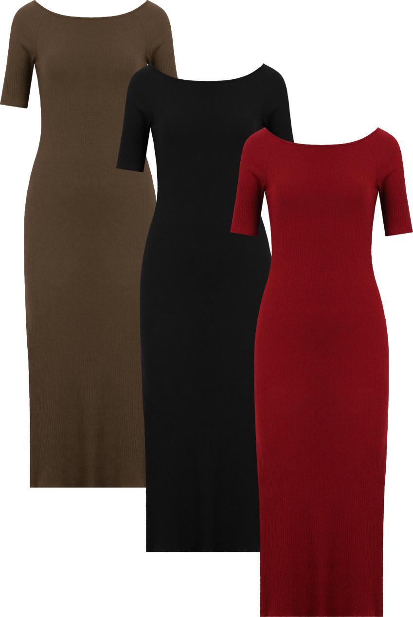 73e277ae Back Pleated Long Sleeve Shift Dress - 2 Colours - Buy Fashion ...