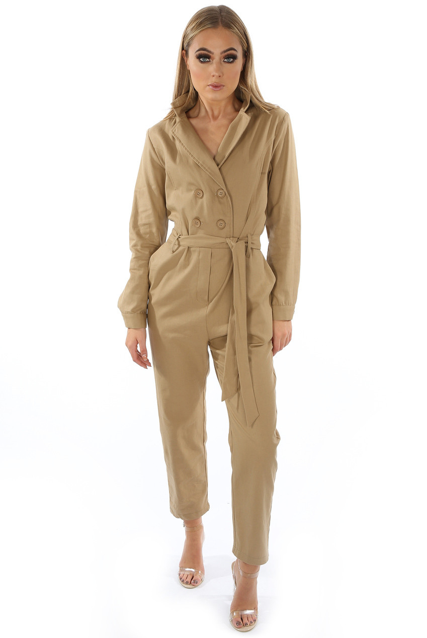540c7446d8 ... Double Breasted Tie Up Jumpsuit - 2 Colours