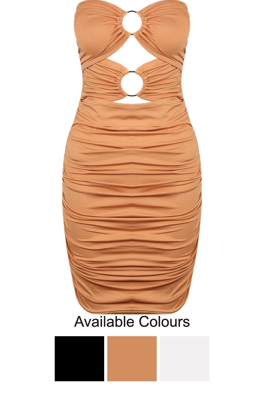 099773ae07d O Ring Bandeau Slinky Dress ...