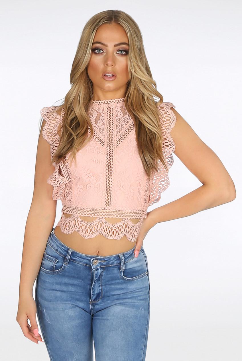 6f11d81560888a Tops - Lace Tops - Babez London - Wholesale Ladies Clothing Manchester