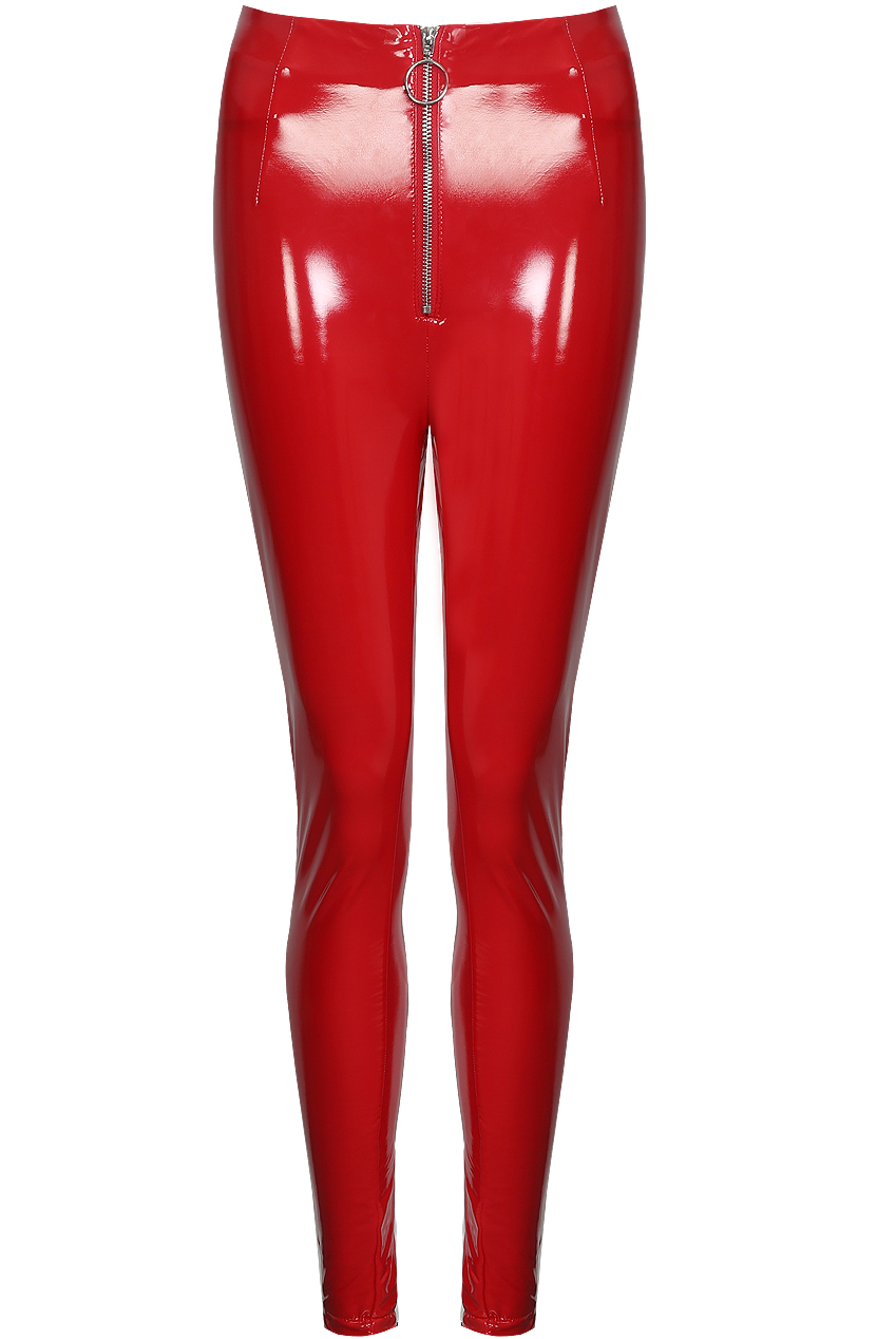 8fe89c41d4869 Shiny High Rise Zip Up Vinyl Pants - Buy Fashion Wholesale in The UK