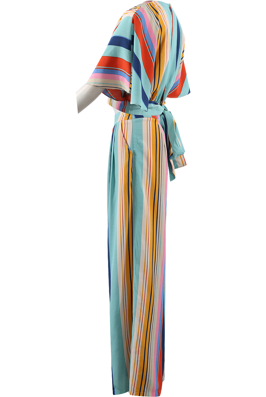 c542b8c33f Stripes Wrap Crop Top & Trouser Co-Ord - Buy Fashion Wholesale in The UK