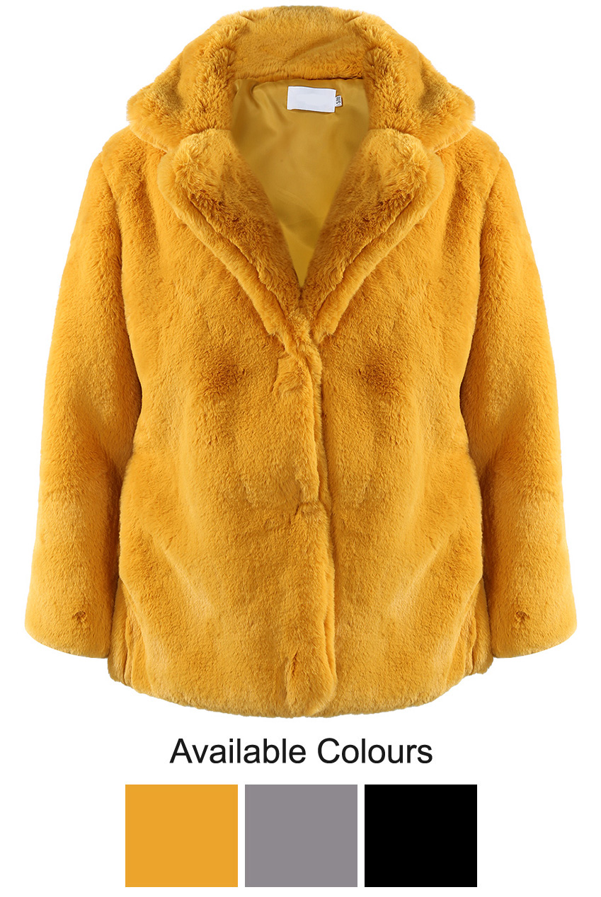 db858f82104 Shaved Oversize Faux Fur Coat - Buy Fashion Wholesale in The UK