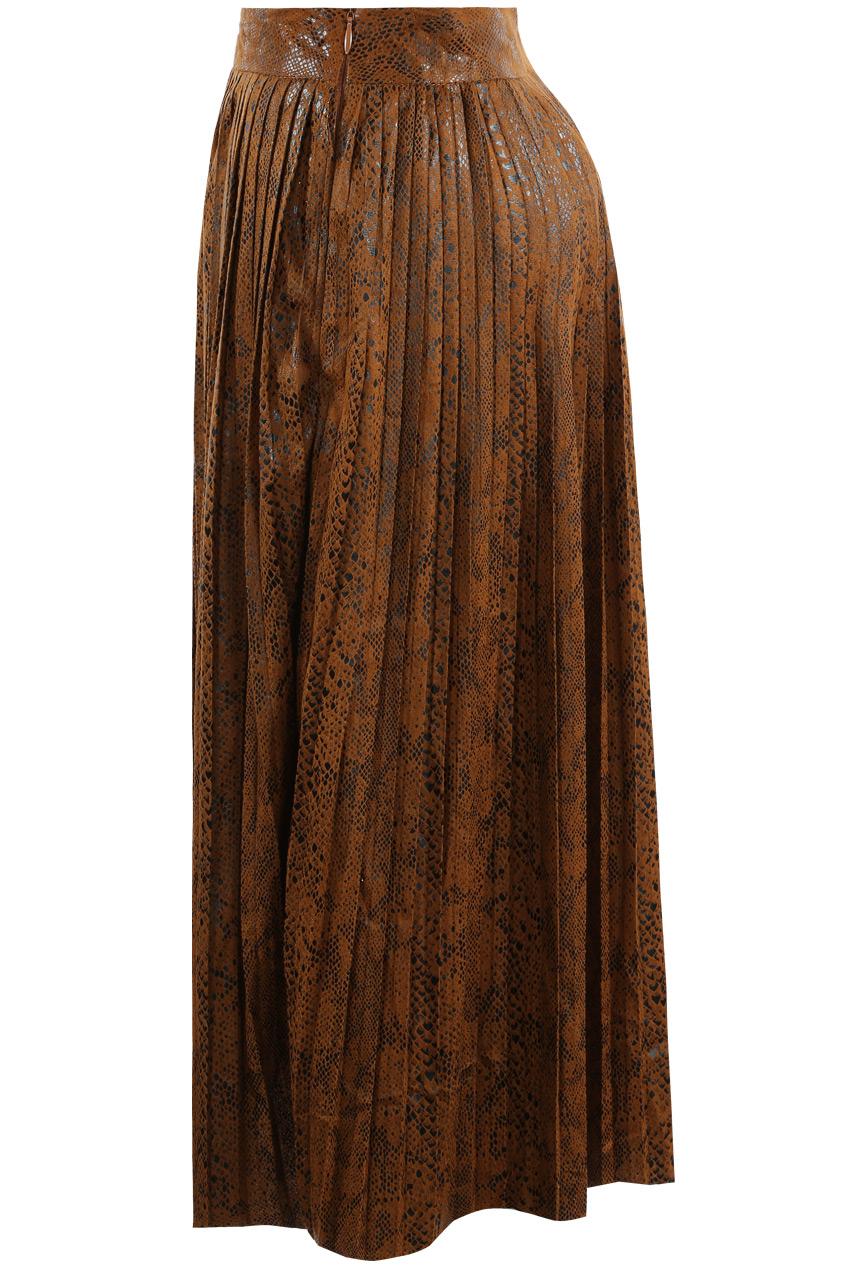 46fa947246e96 Snake Print Pleated Maxi Skirt - Buy Fashion Wholesale in The UK