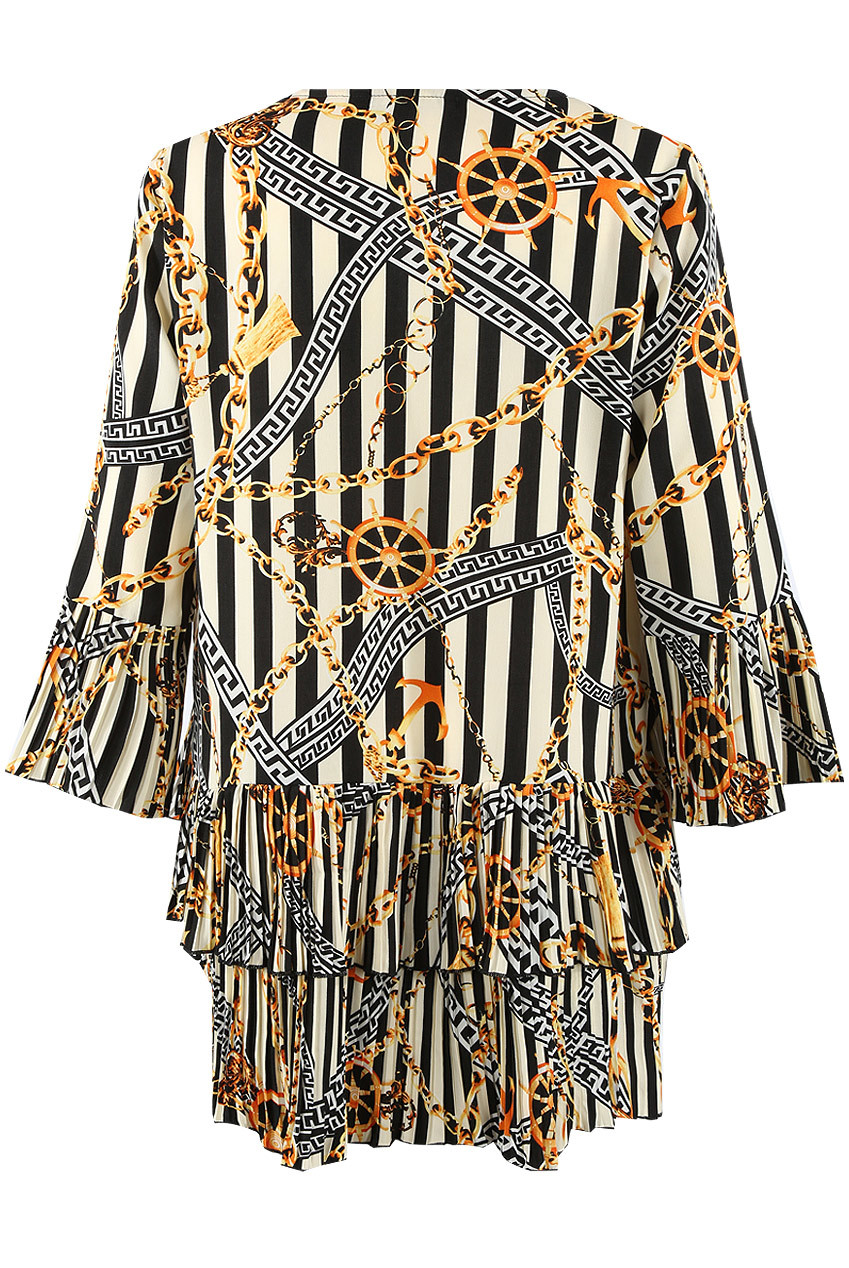 307af6be Stripes Chain Print Tier Hem Dress - Buy Fashion Wholesale in The UK