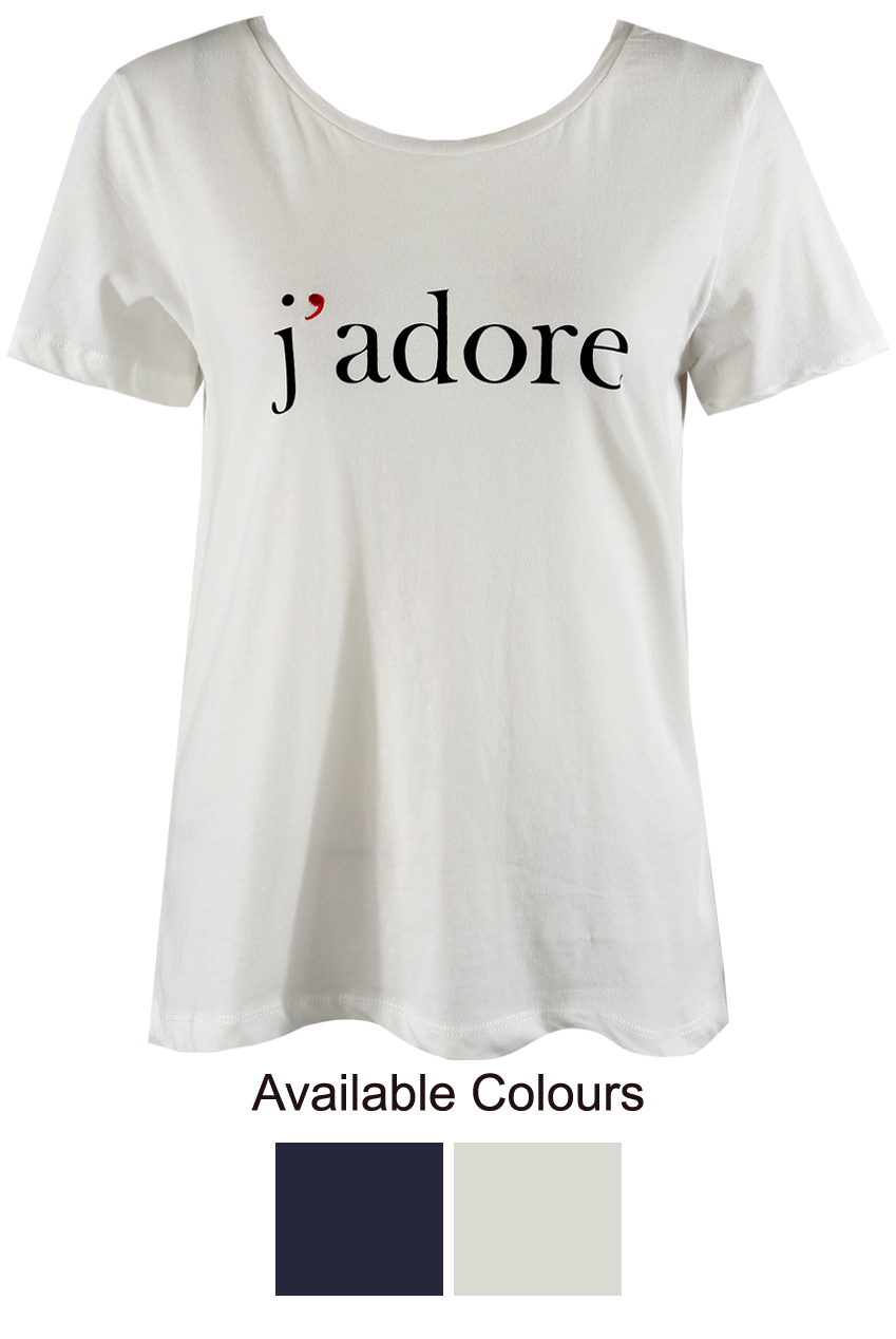 fc99ae96eec J ADORE Slogan Tee - Buy Fashion Wholesale in The UK