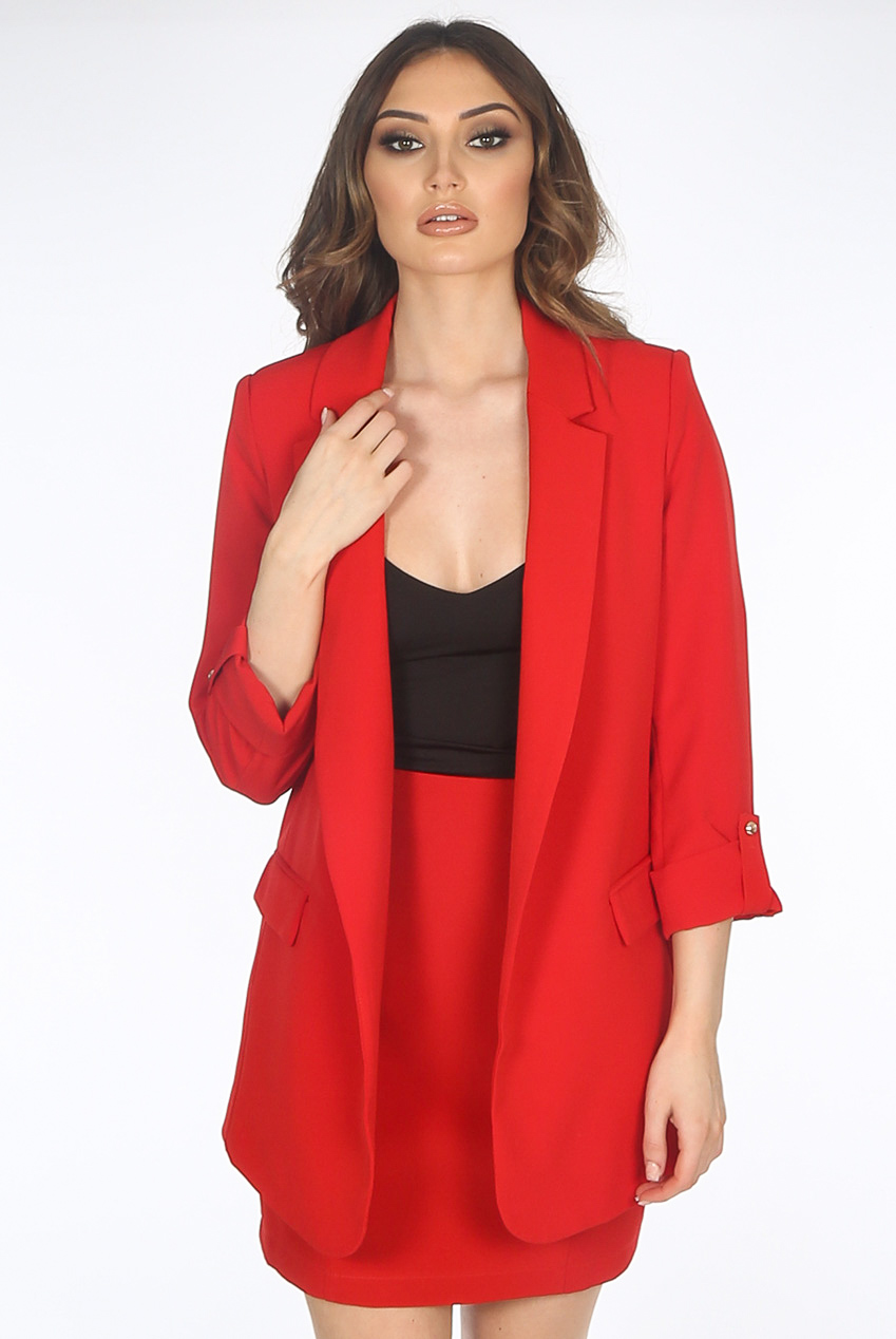 5f0e3b968b8a Roll Up Sleeves Open Front Blazer - Buy Fashion Wholesale in The UK