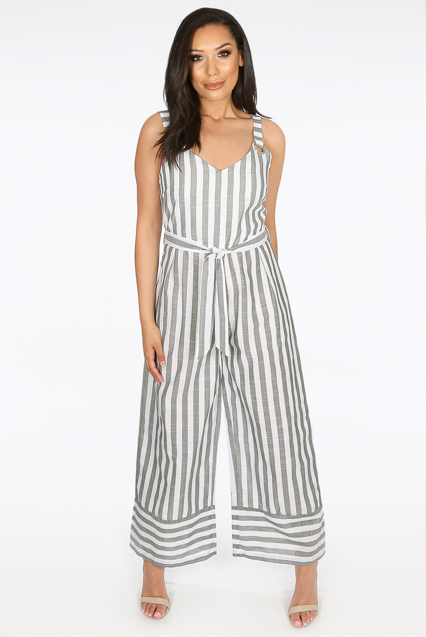3a7609361e58c1 Stripes Tie Up Jumpsuit - Buy Fashion Wholesale in The UK