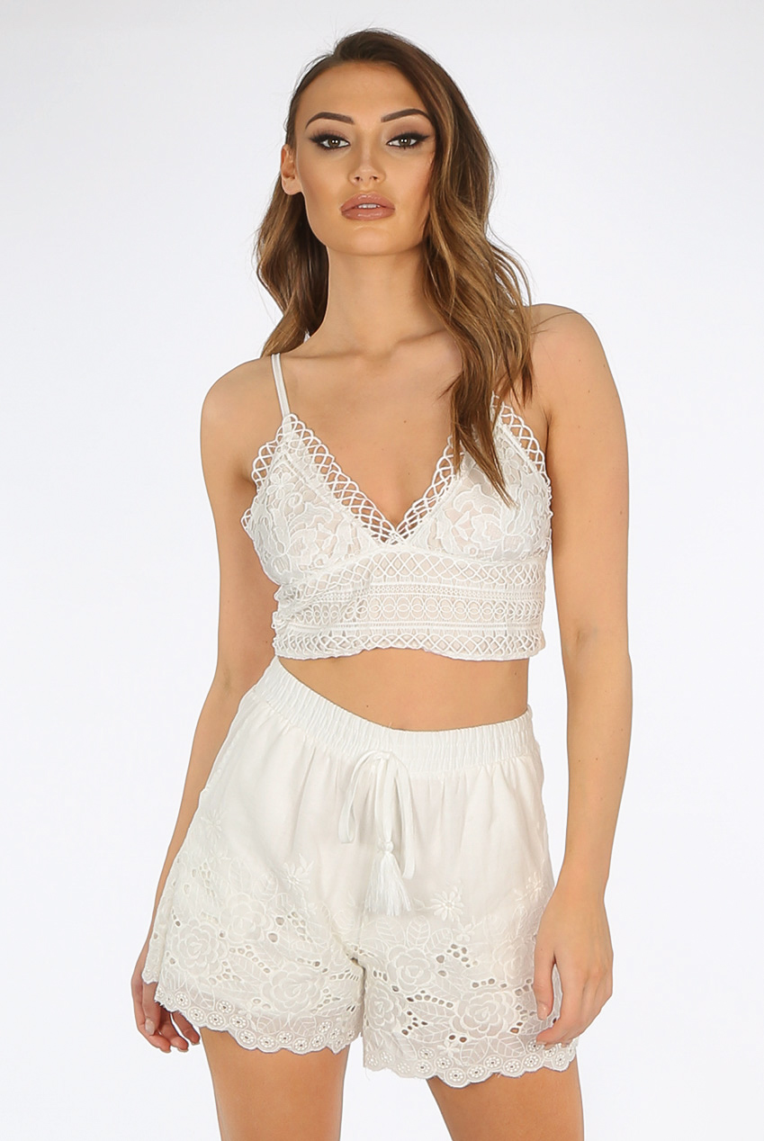 402f052662b Scallop Back Tie Up Crop Top - Buy Fashion Wholesale in The UK